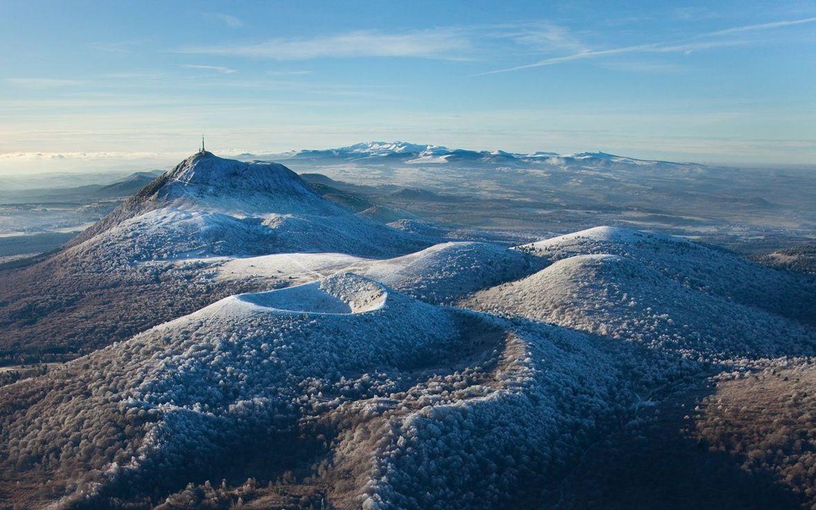 volcan neige